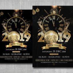 2019 NYE Night Free PSD Flyer Template