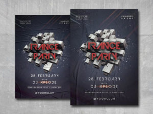 Trance Party Free PSD Flyer Template