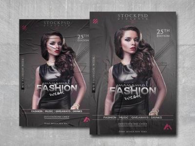 Minimal Fashion Free PSD Flyer Template