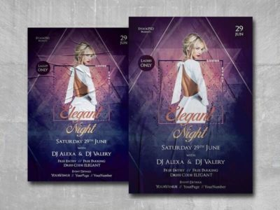 Elegant Ladies Night Free PSD Flyer Template