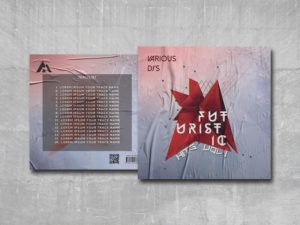 Futuristic Hits Free PSD Mixtape Cover