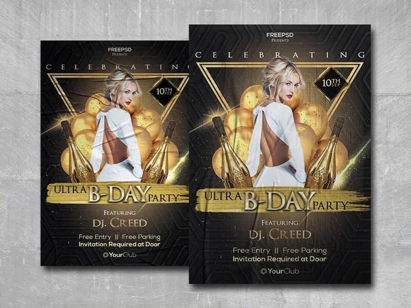 Birthday Party Event Free PSD Flyer Template