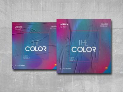 The Color Free PSD Mixtape Cover Template