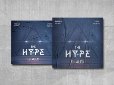 The Hype Free PSD Cover Template