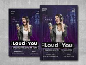 Too Loud Free PSD Flyer Template