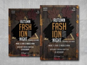 Autumn Fashion Free PSD Flyer Template