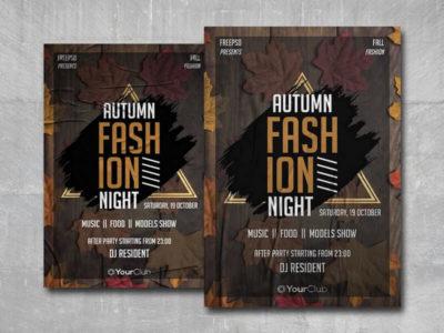 Autumn Fashion Free PSD Flyer Template
