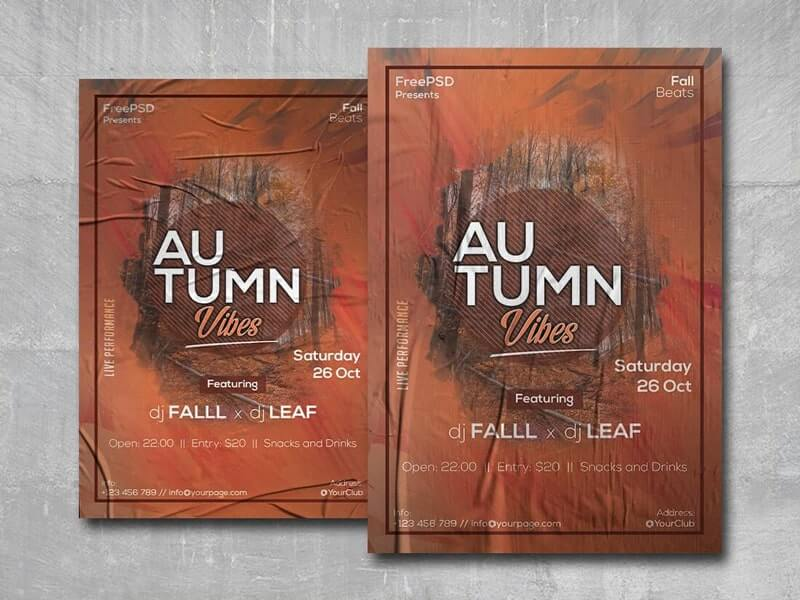 Autumn Vibes Free PSD Flyer Template