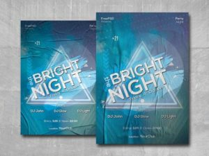 Bright the Night Free PSD Flyer Template