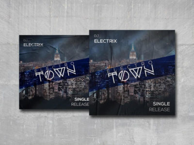 Electro Town Cover Free PSD Template
