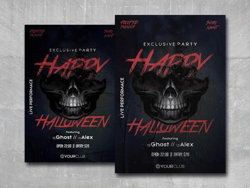Happy Halloween PSD Free Flyer Template