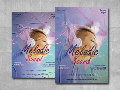 Melodic Sound Free PSD Flyer Template