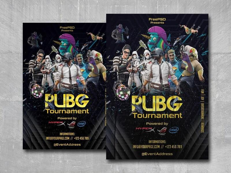 PUBG Tournament Event Free PSD Flyer Template