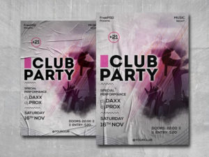 Club Party Free PSD Flyer Template