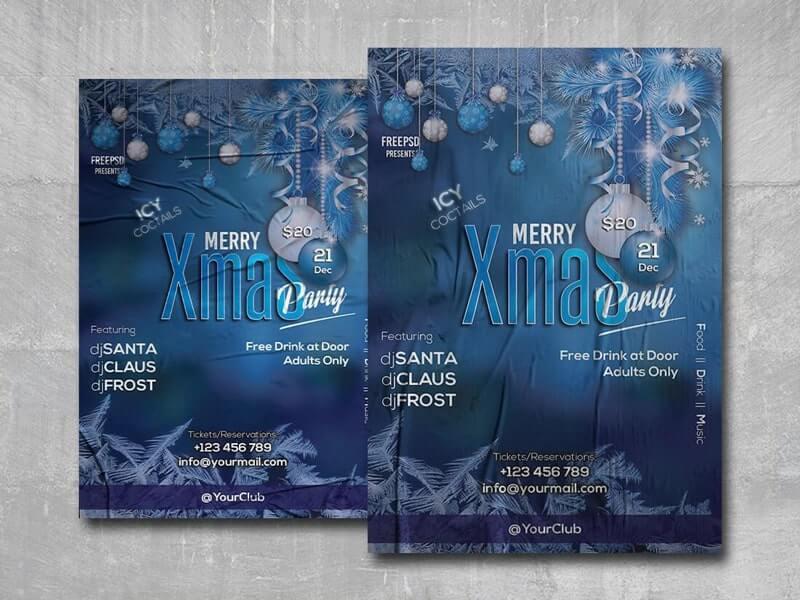 Merry Xmas Party Freebie PSD Flyer Template
