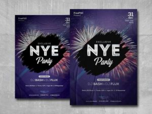 New Year Eve Party Free PSD Flyer Template