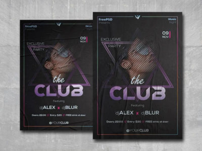 The Club Party Free PSD Flyer Template