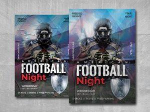 American Football Night Free PSD Flyer Template