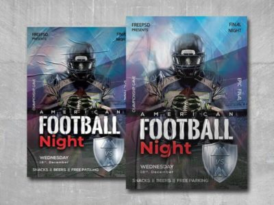 American Football Night Free PSD Flyer Template