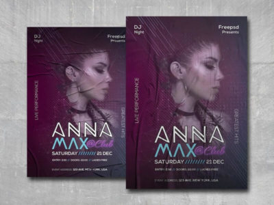 DJ NightClub Free PSD Flyer Template