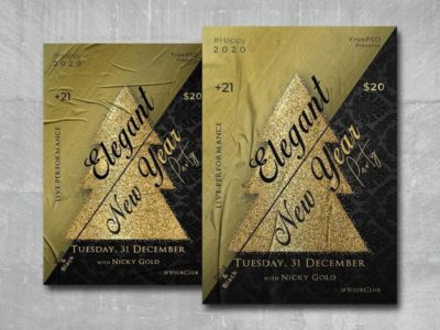 Elegant New Year Free PSD Flyer Template