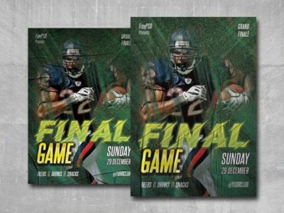 Final Game Free PSD Flyer Template