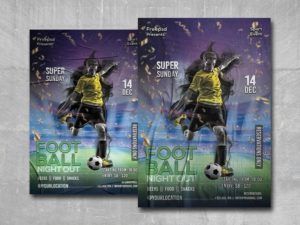 Football Night Out Free PSD Flyer Template