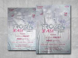 Frozen Beats Free PSD Flyer Template