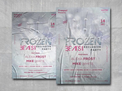 Frozen Beats Free PSD Flyer Template