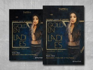 Golden Ladies Party Free PSD Flyer