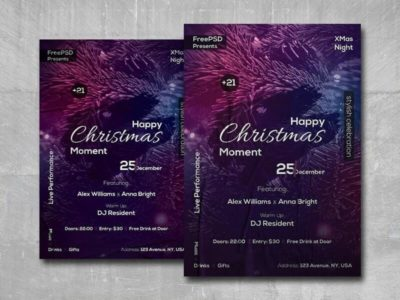 Happy Christmas Moment Free PSD Flyer Template