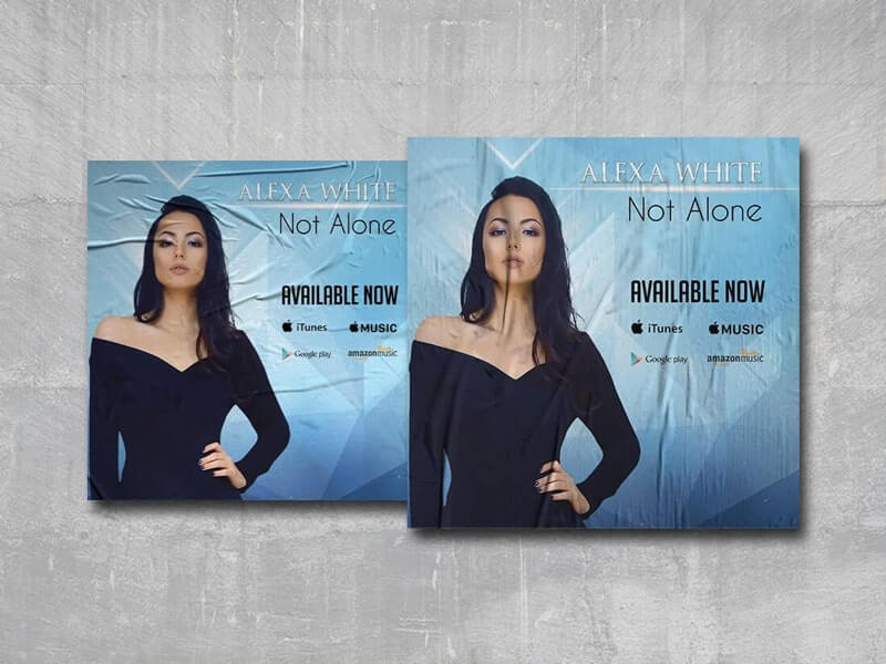Not Alone Free PSD Cover Template