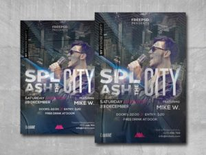 Splash the City Free PSD Flyer Template