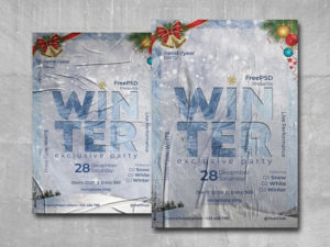 Winter Moments Free PSD Flyer Template
