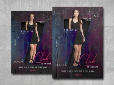 Club 7 Party Flyer Free PSD Template