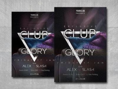 Club Glory Free PSD Flyer Template