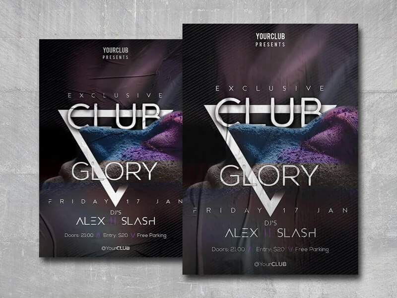 Club Glory Free PSD Flyer Template