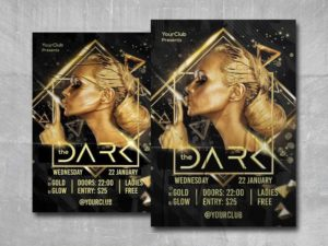 The Dark Party Free PSD Flyer Template
