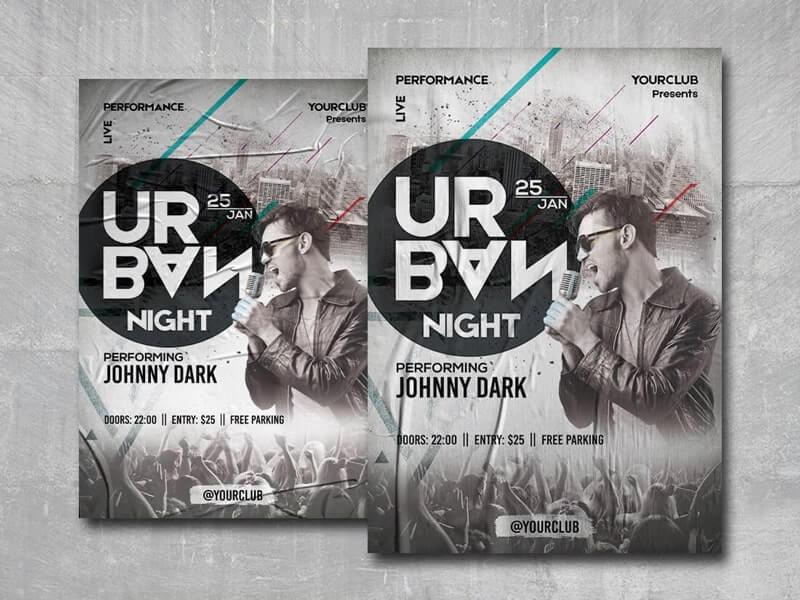 Urban Night Free PSD Flyer Template