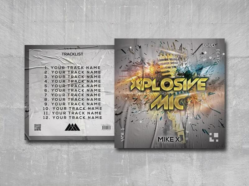 Xplosive Mic Mixtape Free PSD Template