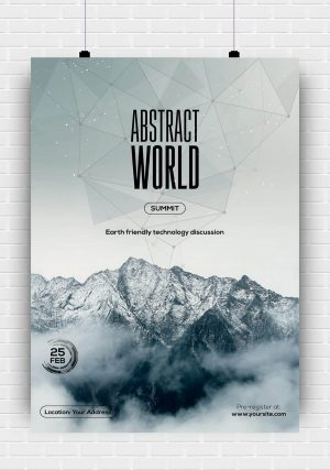 Abstract World PSD Flyer Template