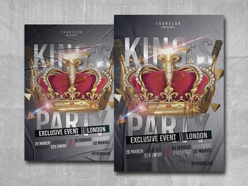 Kings Club Free PSD Flyer Template