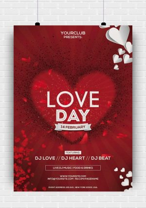 Love Day PSD Flyer Template
