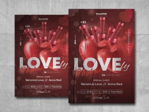 Lovely Night Free PSD Flyer Template
