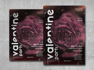 Valentine Love Free PSD Flyer Template
