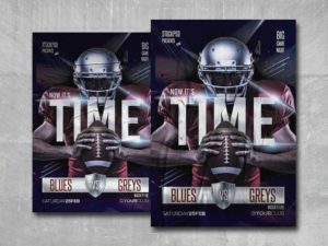 Football Time Free PSD Flyer Template