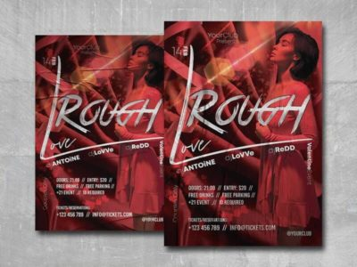 Rough Love Free PSD Flyer Template