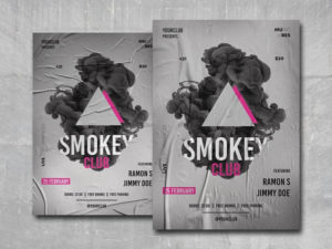 Smoke Club Party PSD Flyer Template