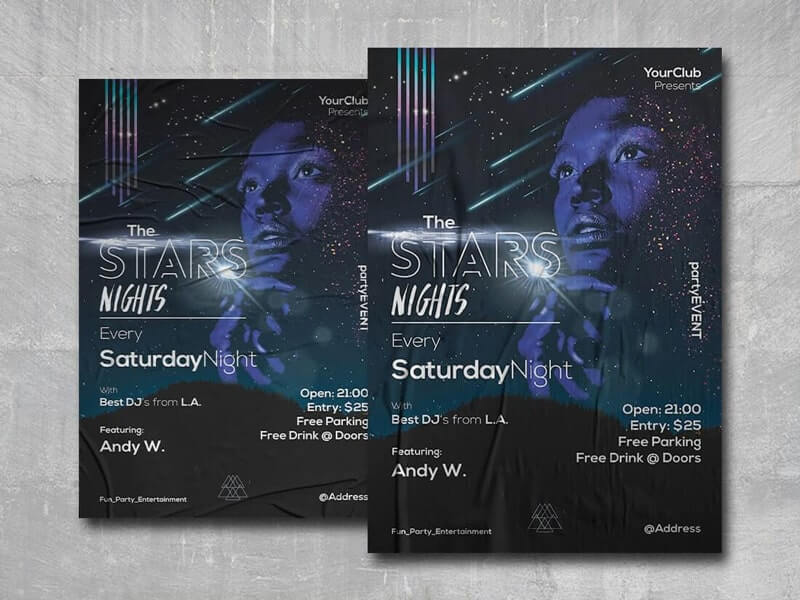 The Stars Free PSD Flyer Template