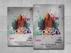 Beat Splash Free PSD Flyer Template